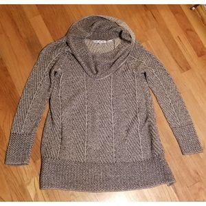 100% cotton cowl neck sweater